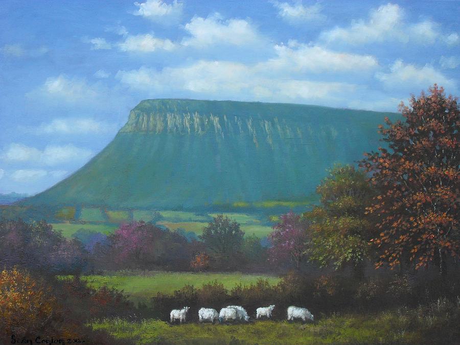 Irish Painting - Yeats Country With Benbulben by Sean Conlon