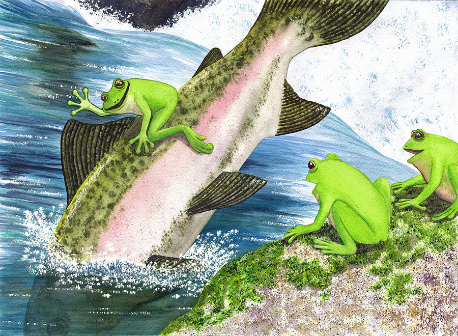 Frog Painting - Yee Hah by Catherine G McElroy