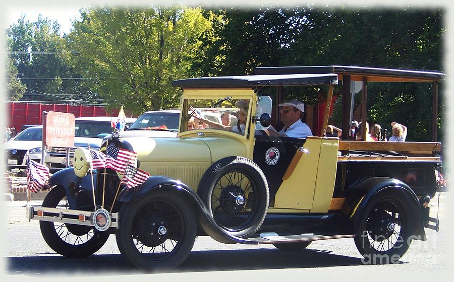 Model A Ford Photograph - Yellow 1929 Depot Hack by Charles Robinson