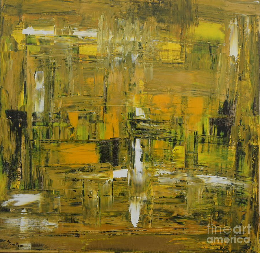Yellow and Black Abstract by Jimmy Clark