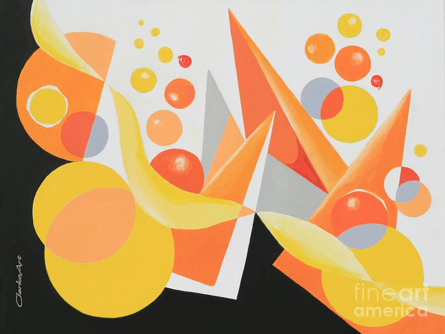 Yellow and Orange Bubbles by Jean Clarke