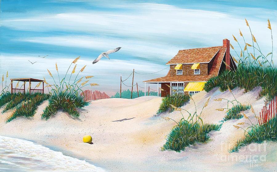 Beach Painting - Yellow Beach Ball by Hugh Harris