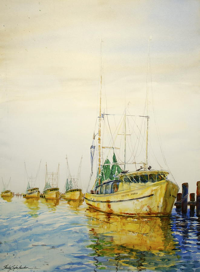 Yellow Boats Painting