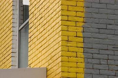 Architecture Photograph - Yellow Bricks Chinatown Ottawa by Catherine Kelly