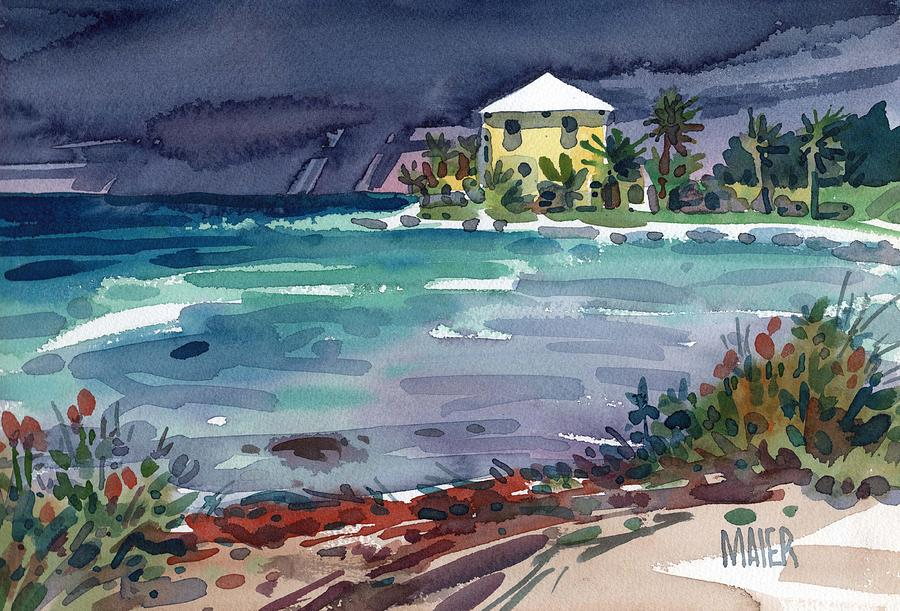 Key West Painting - Yellow Bungalow by Donald Maier
