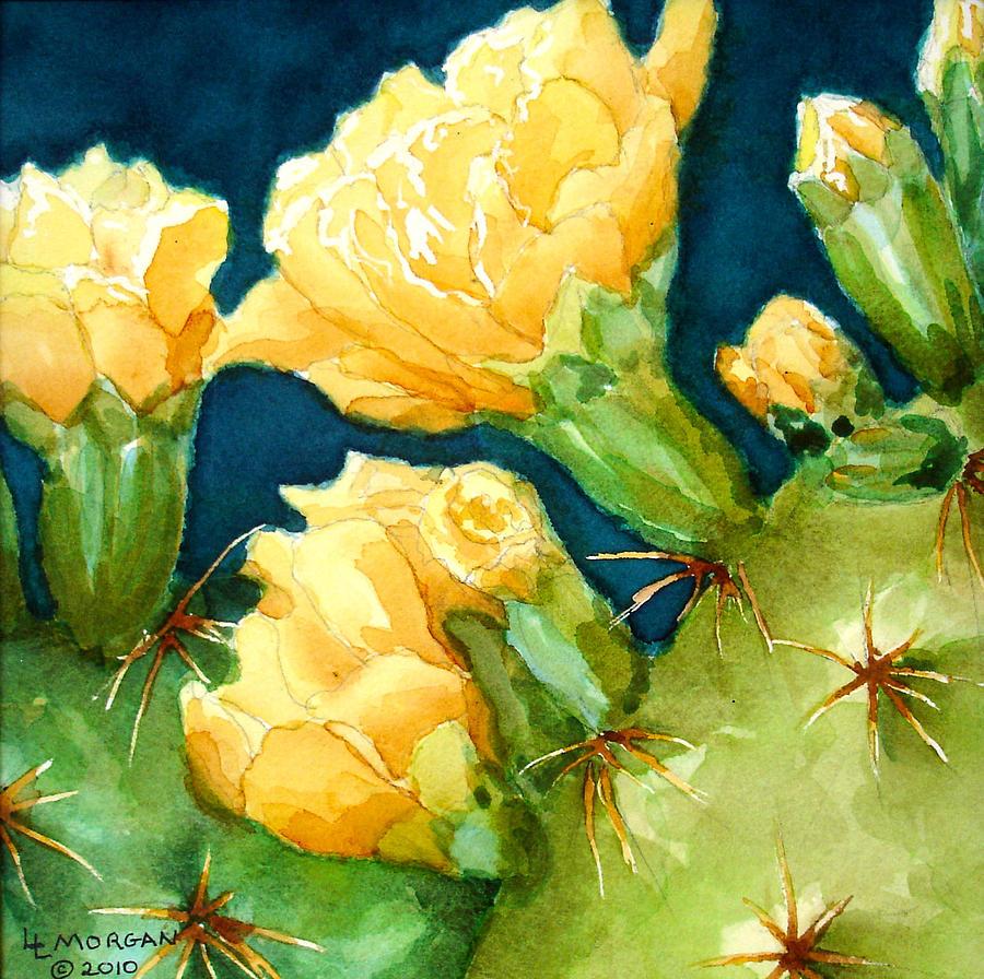 Yellow Cactus Flowers Painting By Lynn Morgan L L Morgan Art