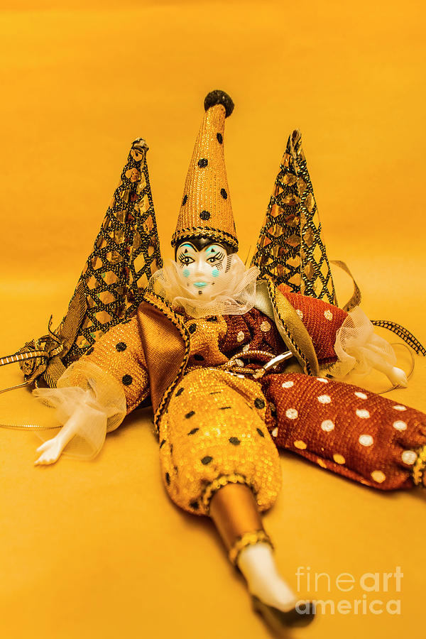 Carnival Photograph - Yellow Carnival Clown Doll by Jorgo Photography - Wall Art Gallery
