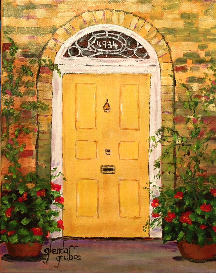 Merveilleux Painting Painting   Yellow Cottage Door By Glenda Grubbs