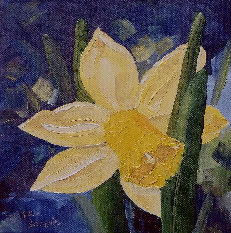 Original Painting - Yellow Daffodil by Monica Ironside