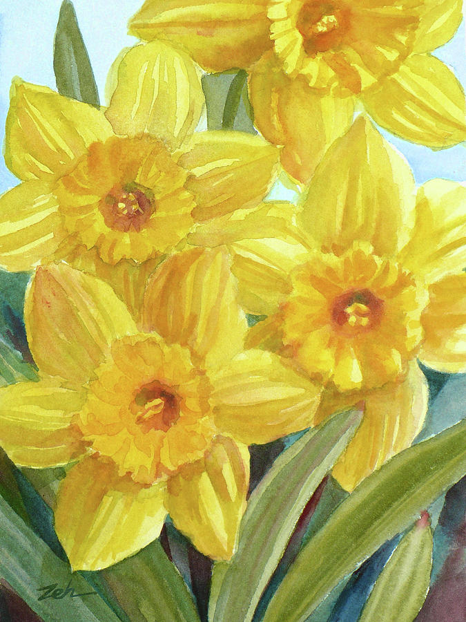 Yellow Daffodils by Janet Zeh