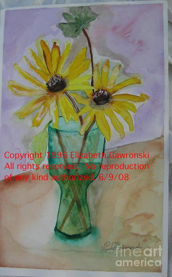 Flowers Painting - Yellow Daisies by Elizabeth A Gawronski