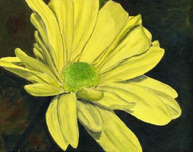 Acrylic Painting - Yellow Daisy 1 by Elizabeth Jones