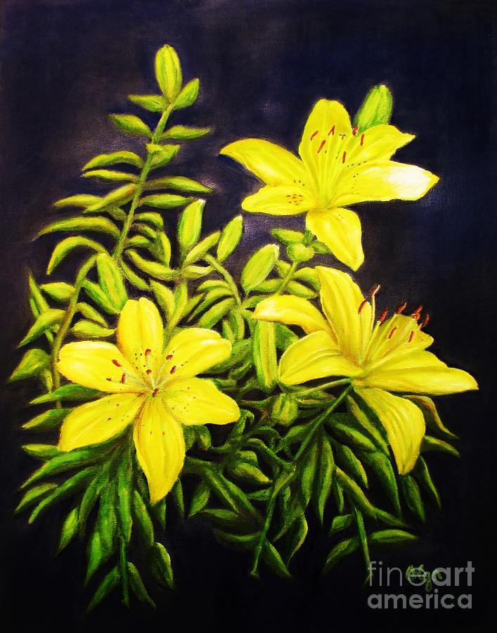 Yellow Daylilies by Olga Silverman
