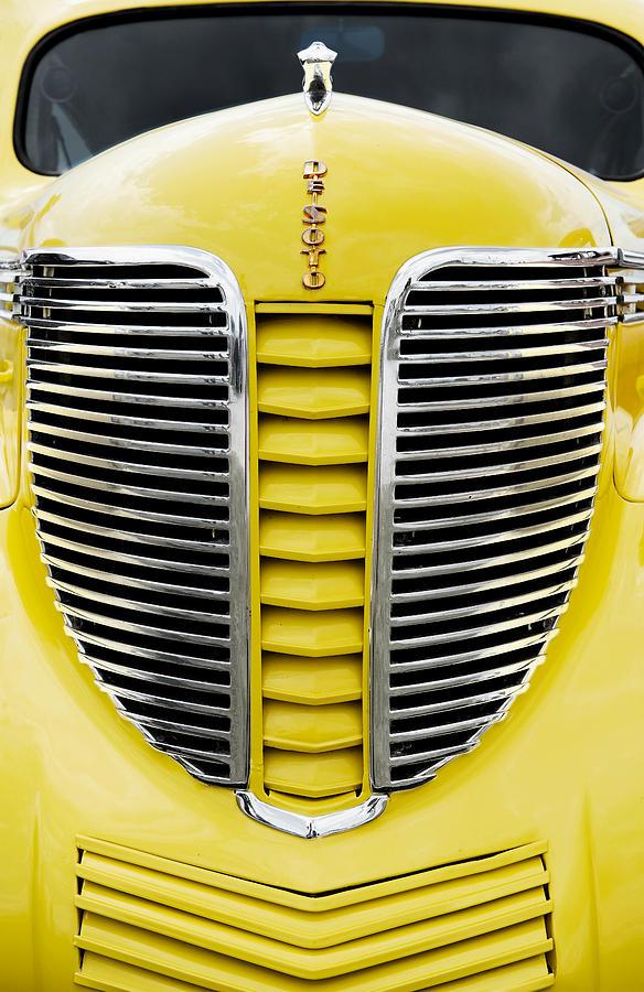 Photographs Photograph - Yellow Desoto Grill by Patrick Chuprina