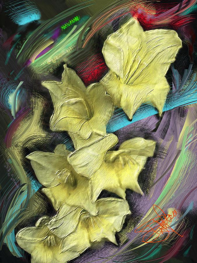 Yellow Digital Art by Donald Pavlica