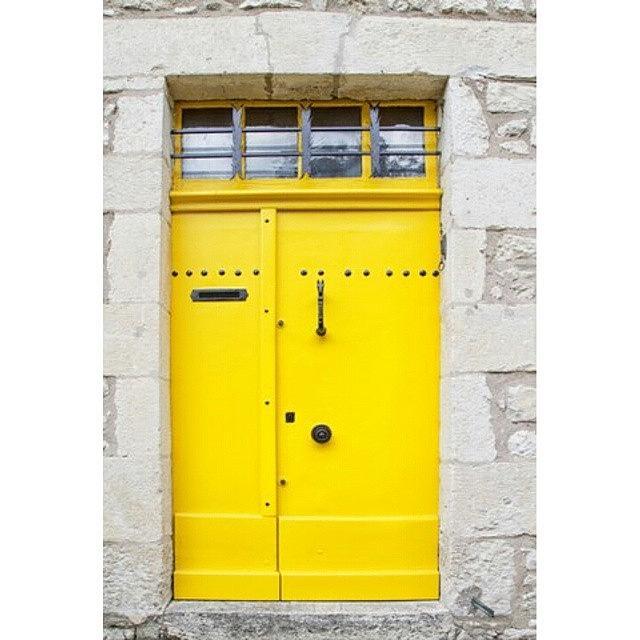 Door Photograph - Yellow Door In France by Georgia Fowler