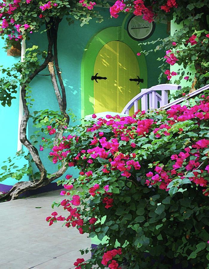 Alabama Photographer Digital Art - Yellow Door by Michael Thomas
