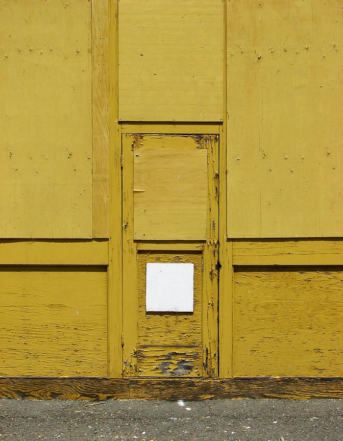 Door Photograph - Yellow Door With Accent by Ben Freeman