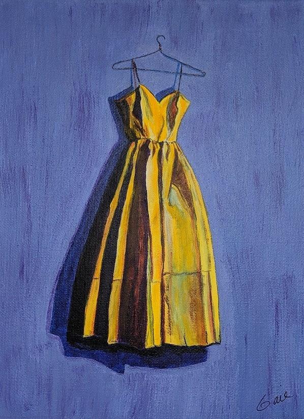 Yellow Dress inspired by Wayne Thiebaud by Gail Friedman