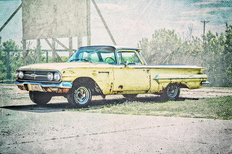 Yellow El Camino Photograph