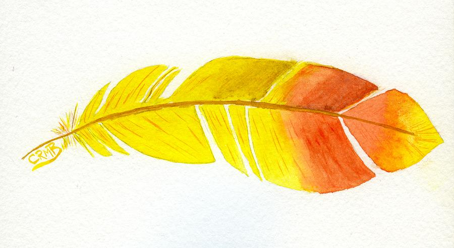 Yellow Feather by Candace Bailly