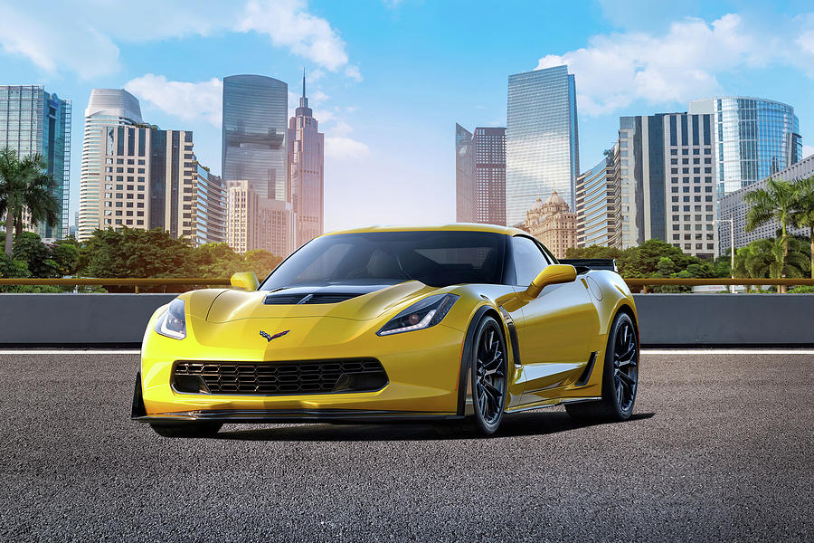 Chevrolet Digital Art - Yellow Fever by Peter Chilelli