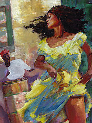 Cuba Painting - Yellow Fever by Wendell Wiggins