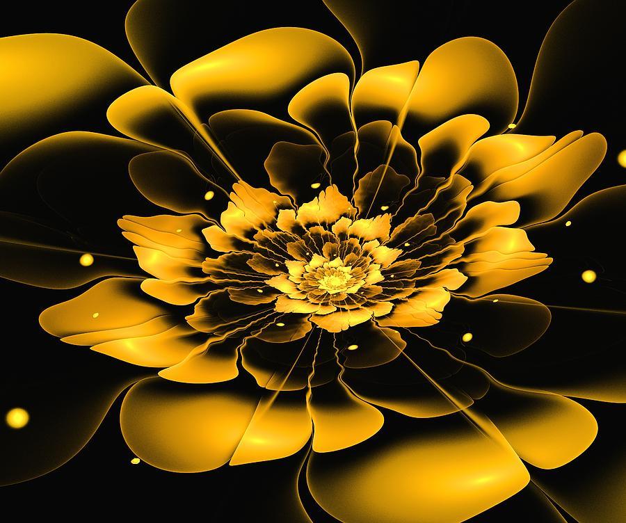 Flower Digital Art - Yellow Flower by Anastasiya Malakhova