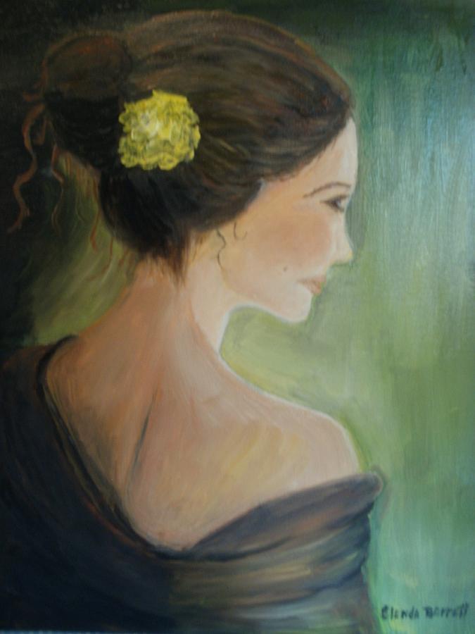 People Painting - Yellow Flower by Glenda Barrett