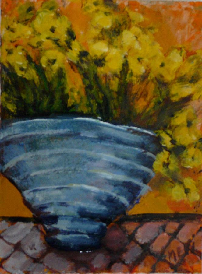 Impressionism Painting - Yellow Flowers by Juliet Mevi