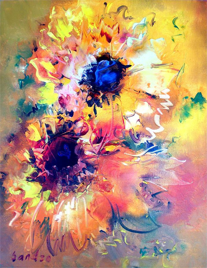 Yellow flowers painting by sandro akhvlediani sunflowers painting yellow flowers by sandro akhvlediani mightylinksfo