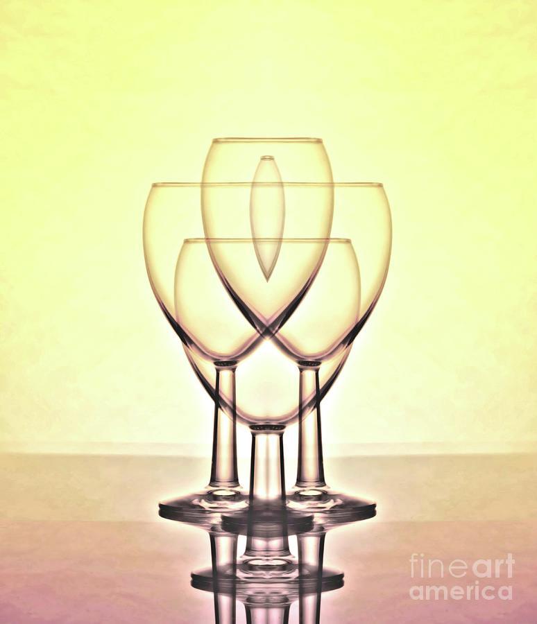 Mirrored Digital Art - Yellow Glass by Raven Deem
