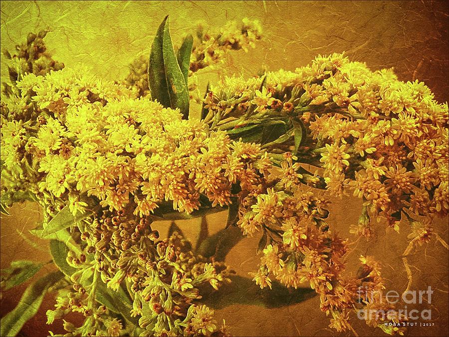 Goldenrod Yellow Autumn Greetings Digital Art