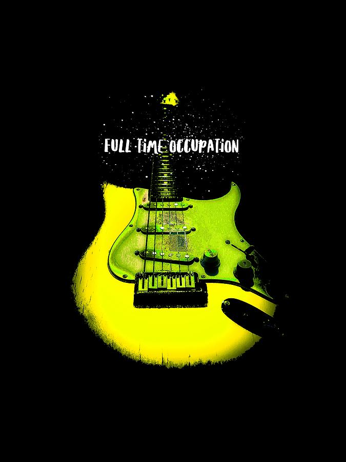 Fender Stratocaster Photograph - Yellow Guitar Full Time Occupation by Guitar Wacky