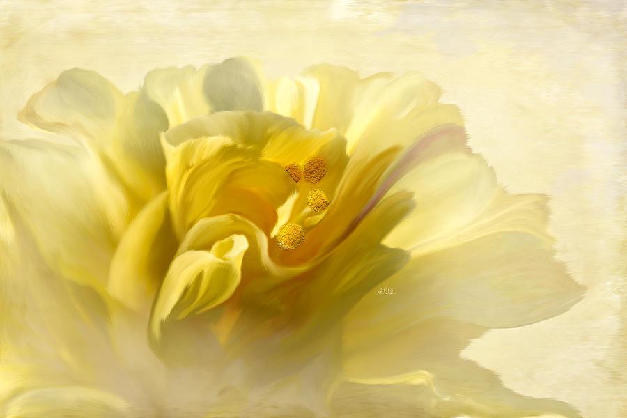 Yellow Hibiscus Painting - Yellow Hibiscus by Angela Stanton