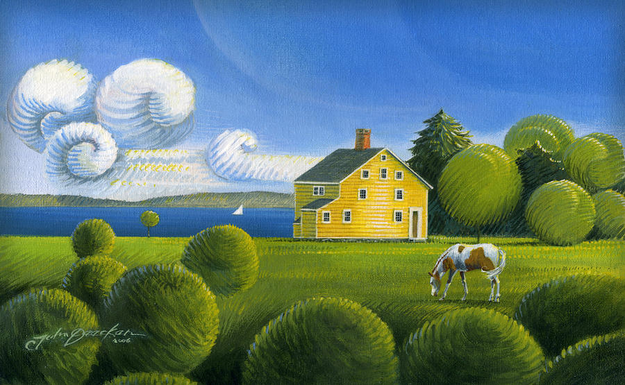 Yellow House by John Deecken