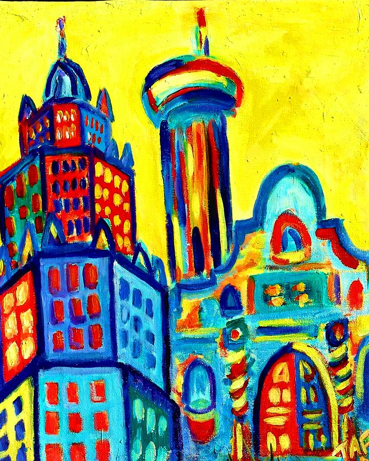 Alamo Painting - Yellow Icons by Tracey Ashenfelter