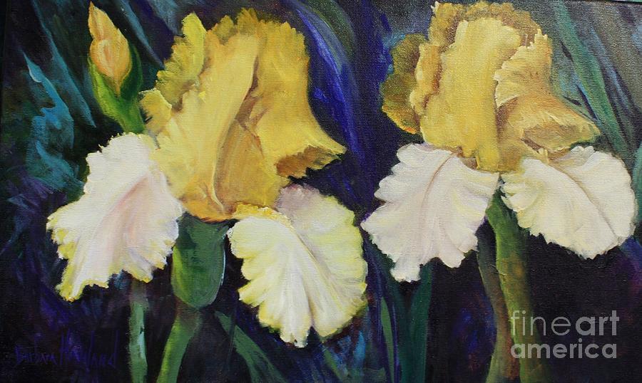 Yellow Painting - Yellow Iris by Barbara Haviland
