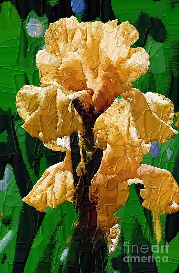 Diane Berry Painting - Yellow Iris by Diane E Berry