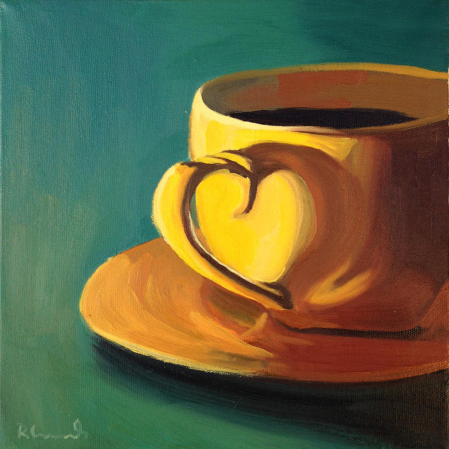 Coffee Painting - Yellow Java by Nathan Rhoads