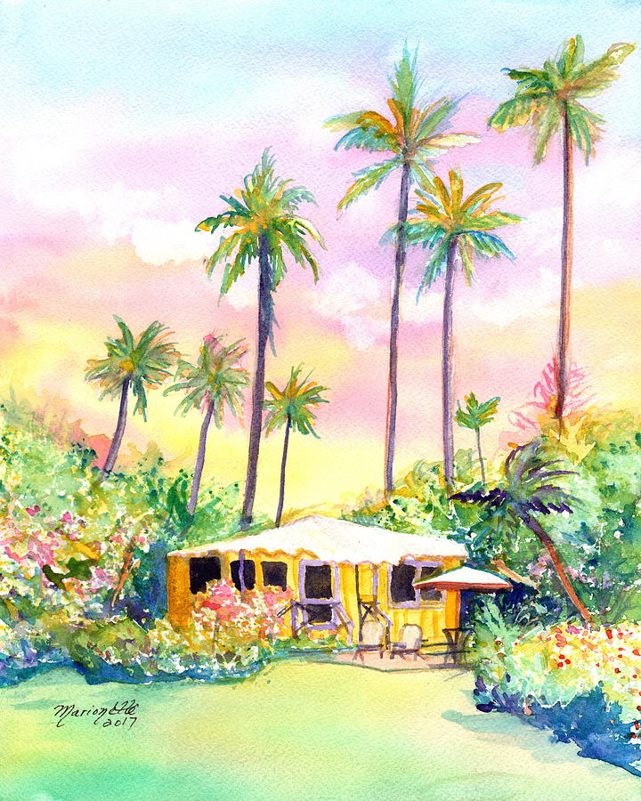 Yellow Kauai Cottage by Marionette Taboniar