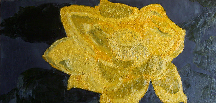 Still Life Paintings Painting - Yellow Lilac On The Pond by Leslye Miller