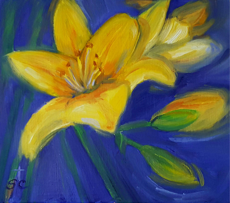 Yellow Lily by Sharon Casavant