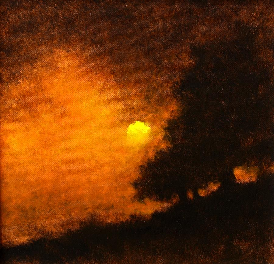 Painting Painting - Yellow Moon by Jim Gola