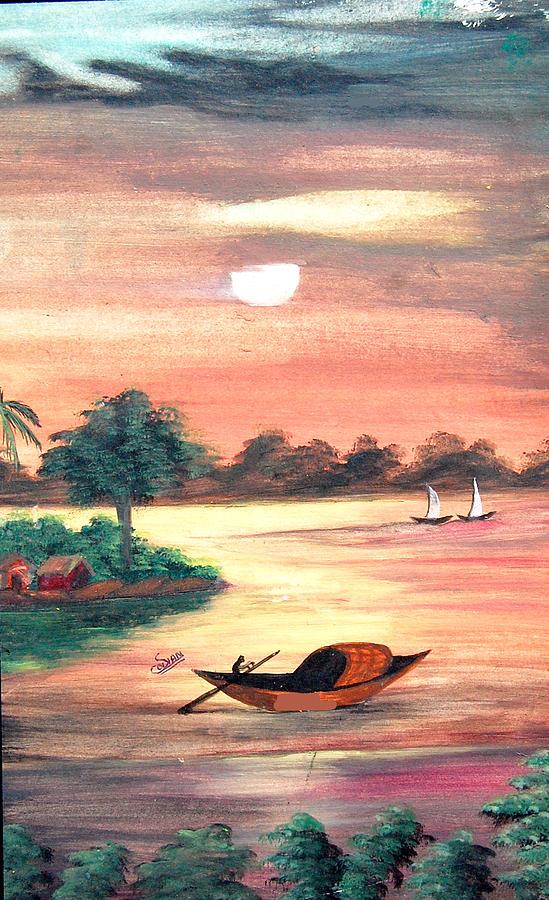 Landscape Painting - Yellow Morning by Sonam Shine