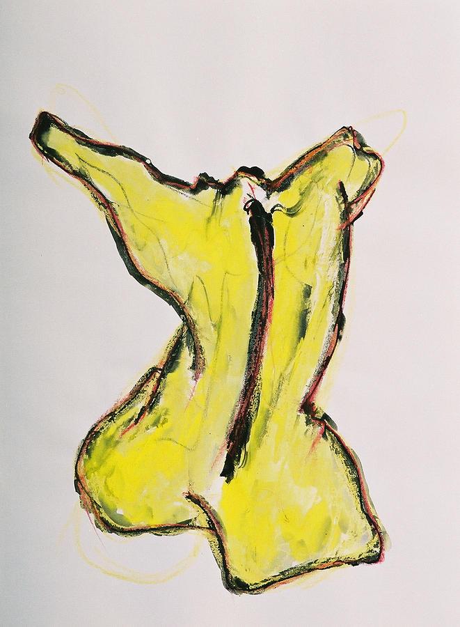 Drawing Drawing - Yellow by Oudi Arroni