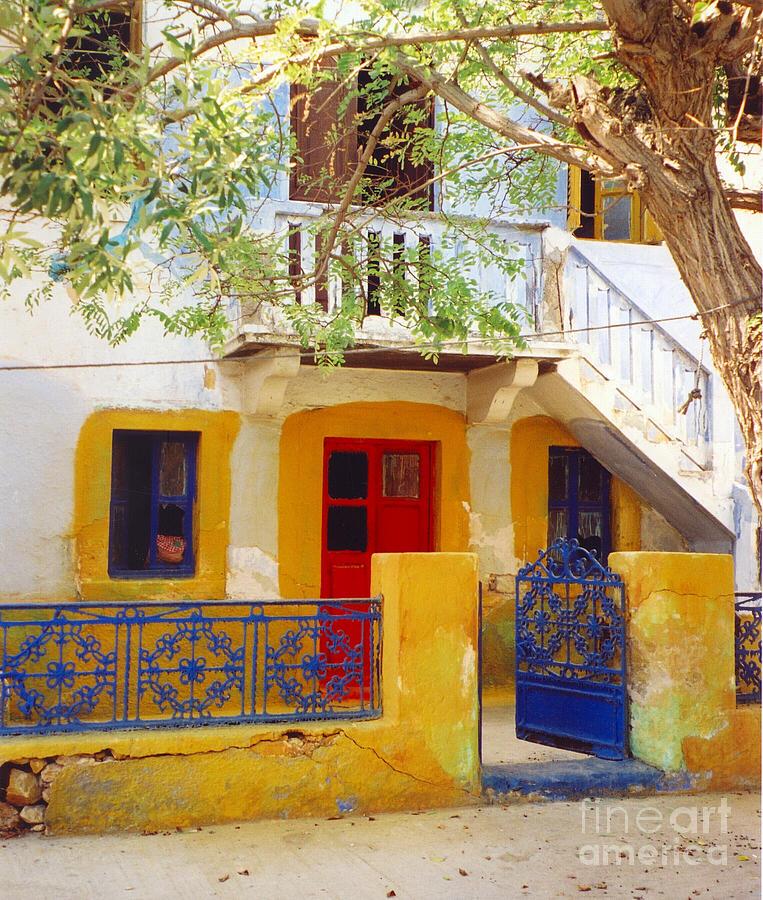 Greece Photograph - Yellow Outline by Andrea Simon