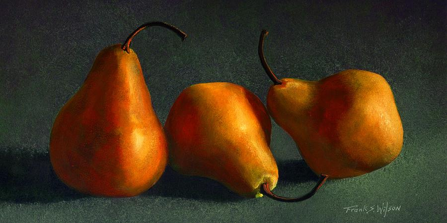 Still Life Painting - Yellow Pears by Frank Wilson