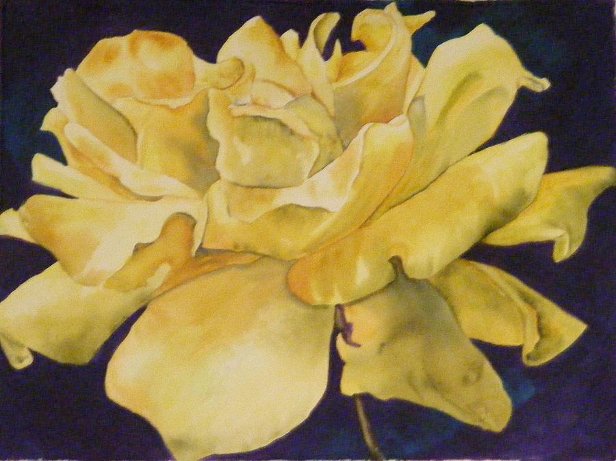 Rose Painting - Yellow Rose 101 by Diane Ziemski
