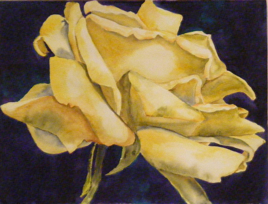 Flower Painting - Yellow Rose 102 by Diane Ziemski